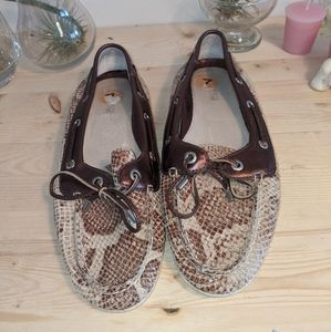 Sperry Snakeskin Print Top Siders Size 7